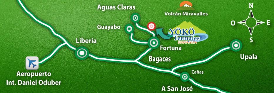 Mapa Yoko Termales
